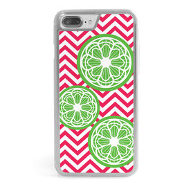Girls Lacrosse iPhone® Case - Lax Citrus Chevron