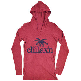 Girls Lacrosse Lightweight Performance Hoodie Just Chillax'n