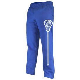 Girls Lacrosse Fleece Sweatpants Lax Life