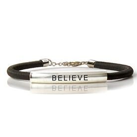 Sterling Silver SportEXPRESSION BelieveTube Bracelet