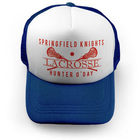 Girls Lacrosse Trucker Hat - Personalized Crest