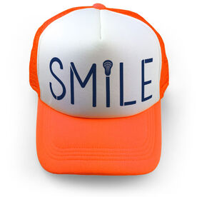Girls Lacrosse Trucker Hat - Lax Stick Smile
