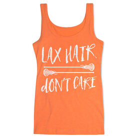 Girls Lacrosse Women's Athletic Tank Top Lax Hair Don't Care
