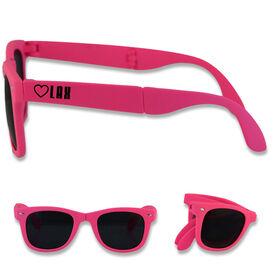 Foldable Lacrosse Sunglasses Heart Lax
