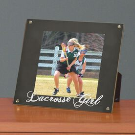 Lacrosse Photo Display Frame Lacrosse Girl