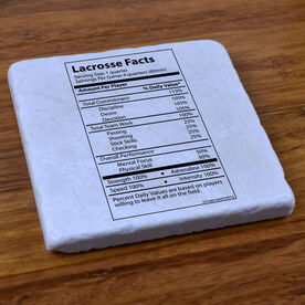 Lacrosse Facts - Natural Stone Coaster