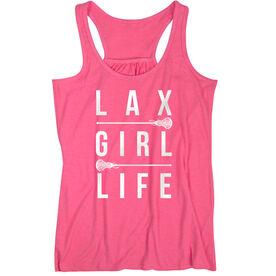 Girls Lacrosse Flowy Racerback Tank Top - Lax Girl Life