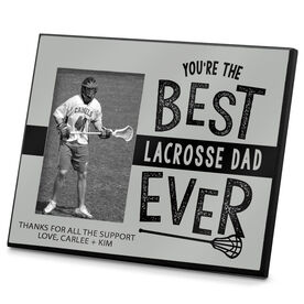 Lacrosse Photo Frame Best Lacrosse Dad Ever