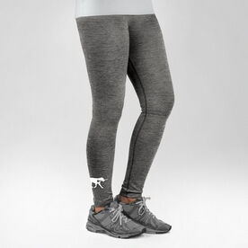 Girls Lacrosse Performance Tights LuLa the Lax Dog