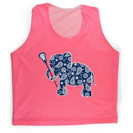 Girls Lacrosse Racerback Pinnie Lax Elephant