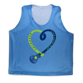 Girls Racerback Pinnie Live Love Play Lacrosse
