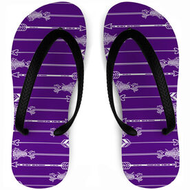 Girls Lacrosse Flip Flops Arrows