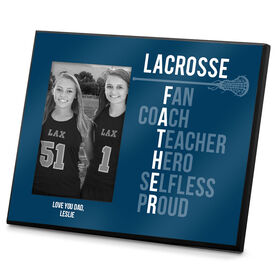 Girls Lacrosse Photo Frame Lacrosse Father