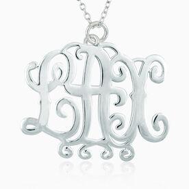 LAX Monogram Pendant Necklace