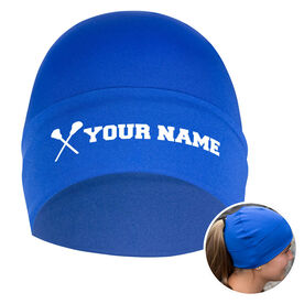 Performance Ponytail Cuff Hat Personalized Name Girls Lacrosse Sticks