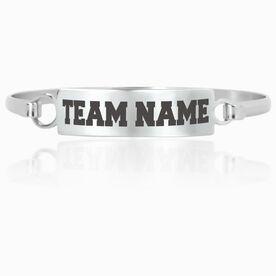 General Sports Engraved Clasp Bracelet Team Name