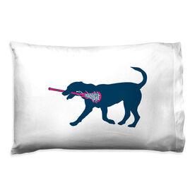 Girls Lacrosse Pillowcase - Lula The Lax Dog