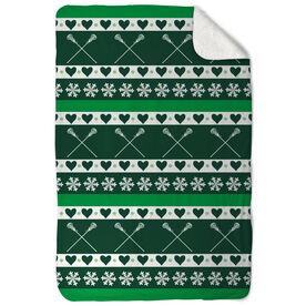 Girls Lacrosse Sherpa Fleece Blanket Christmas Sweater