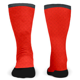 Customized Printed Mid Calf Team Socks Mesh