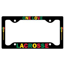 One Love Lacrosse License Plate Holder