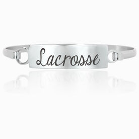 Lacrosse Engraved Clasp Bracelet Lacrosse
