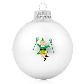 Lacrosse Glass Ornament Lacrosse Elf