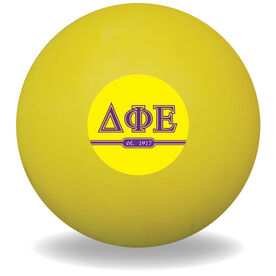 Personalized Sorority Ball Lacrosse Ball (Yellow Ball)