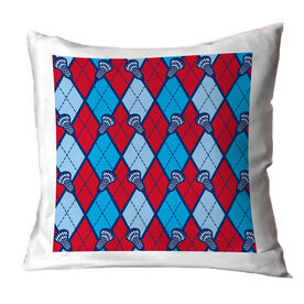 Lacrosse Throw Pillow Lacrosse Stick Argyle Pattern