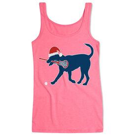 Girls Lacrosse Women's Athletic Tank Top Christmas Dog