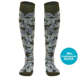 Digital Camouflage Compression Knee Socks
