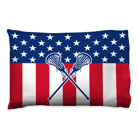 Girls Lacrosse Pillowcase - USA Lax Girl
