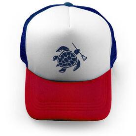 Lacrosse Trucker Hat Sea Turtle