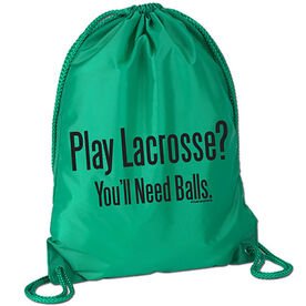 Lacrosse Sport Pack Cinch Sack - Play Lacrosse? You'll Need Balls