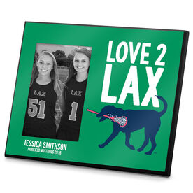 Girls Lacrosse Photo Frame Love 2 Lax Dog