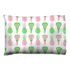 Girls Lacrosse Pillowcase - Pineapples