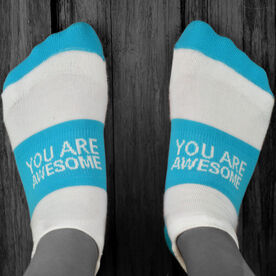 Socrates™ Woven Performance Sock You Are Awesome (Teal)