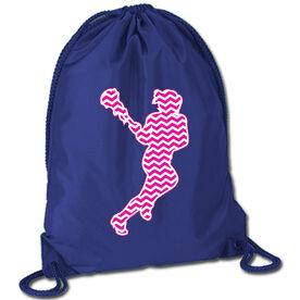 Lacrosse Sport Pack Cinch Sack Chevron Lax Girl Pink