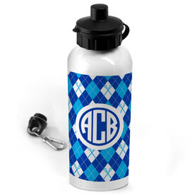 Lacrosse 20 oz. Stainless Steel Water Bottle Personalized Monogram With Lacrosse Argyle Pattern