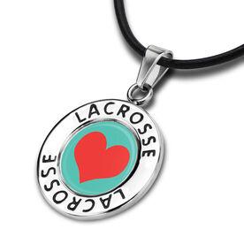 Lacrosse Circle Necklace Heart