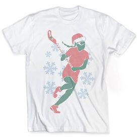 Vintage Girls Lacrosse T-Shirt - Christmas Laxer
