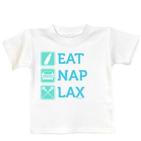 Baby T-shirt Eat Nap Lax