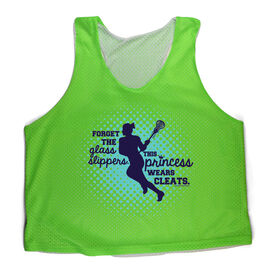 Girls Racerback Pinnie Forget The Glass Slippers This Princess Wears Cleats