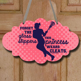 Forget The Glass Slippers. This Princess Wears Cleats. Decorative Cloud Sign