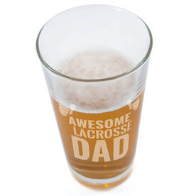 20 oz. Beer Pint Glass Awesome Lacrosse Dad