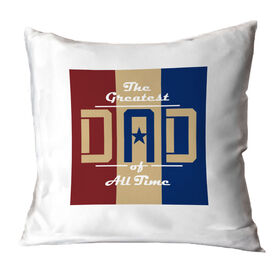 General Sports Throw Pillow - Greatest Dad Stripes
