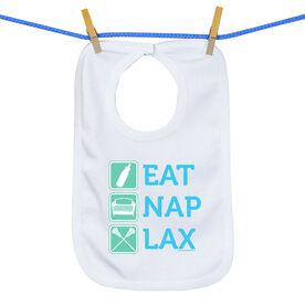 Baby Bib Eat Nap Lax