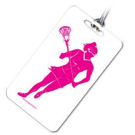 Lacrosse Bag/Luggage Tag Lacrosse Girl Player