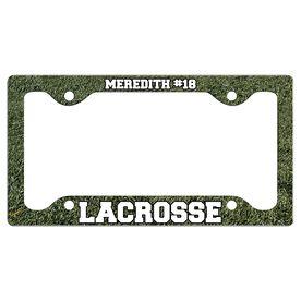 Custom Lacrosse Player License Plate Holders