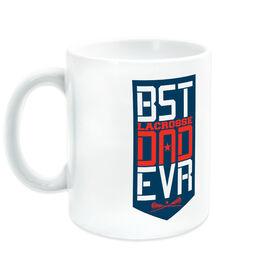 Girls Lacrosse Ceramic Mug - Best Dad Ever Shield