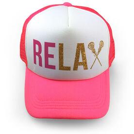 Girls Lacrosse Trucker Hat - Relax